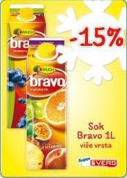 - 15% Sok Bravo 1 l