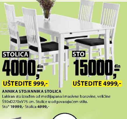 Trpezarijska stolica Annika