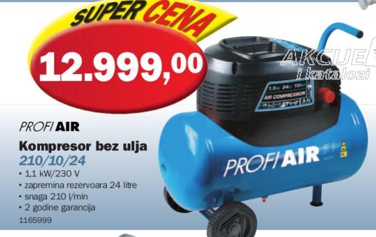 Kompresor bez ulja 210/10/24
