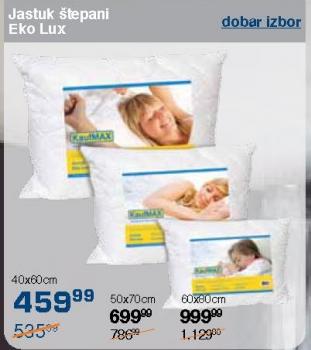 Jastuk štepani Eko Lux
