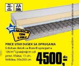 Dušek Price Star sa oprugama, 90x200cm