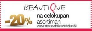 20% popusta u radnji Beautique
