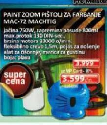 Pištolj za farbanje Paint Zoom MAC-72