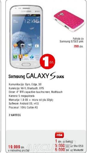 Telefon mobilni Galaxy S duos