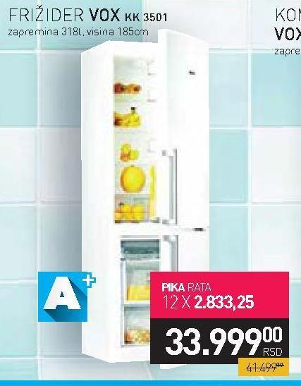 Kombinovani frižider KK 3501