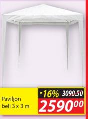 Paviljon beli 3 x 3 m