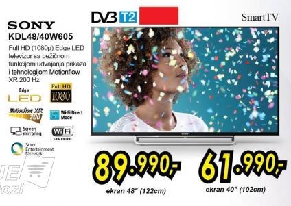 """Televizor LED 48"""" Kdl48w605"""