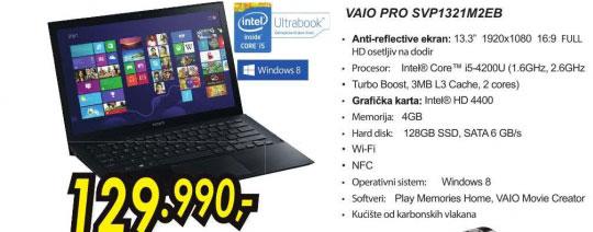 Laptop VAIO SVP1321M2EB