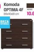 Komoda Optima 4F, wenge