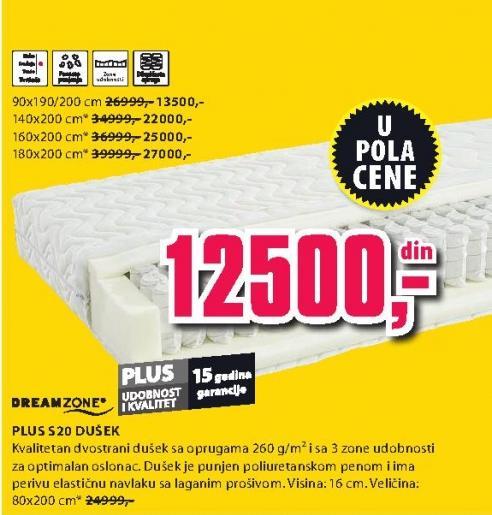 Dušek Plus S20 90x190/200