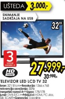 """Televizor LED 32"""" Tv 32"""