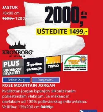Jorgan Rose Mountain 135x200cm