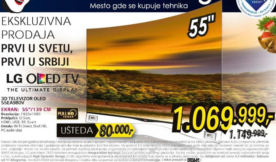 Televizor 3D OLED 55EA980V