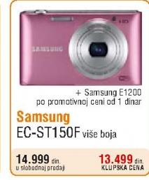 Digitalni fotoaparat Samsung EC-ST150F +Fotoaparat Samsung E1200 za 1 dinar