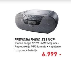 Prenosni radio ZSS10CP.CET
