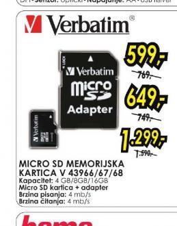Micro SD memorijska kartica V 43966