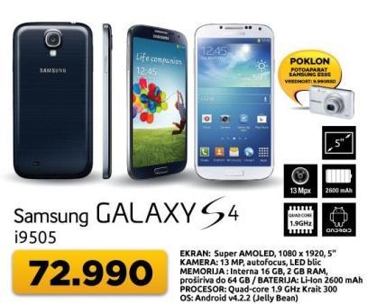 Mobilni telefon Galaxy S 4 + poklon fotoaparat Samsung Es95