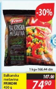 Smrznuto povrće balkanska mešavina