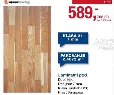 Laminatni pod 7mm Alpod flooring