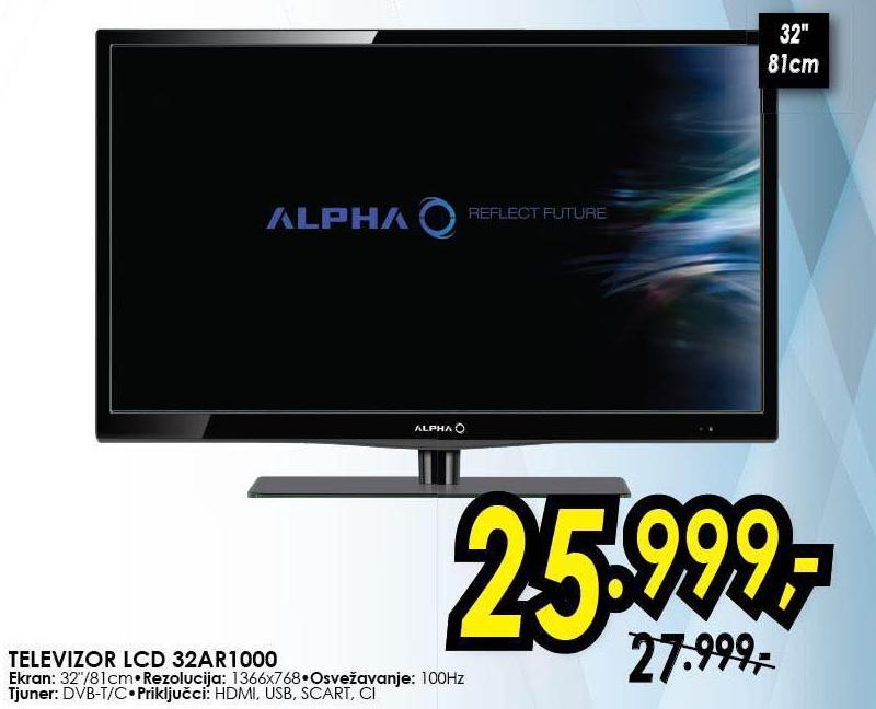 "Televizor LED 32"" 32AR1000"