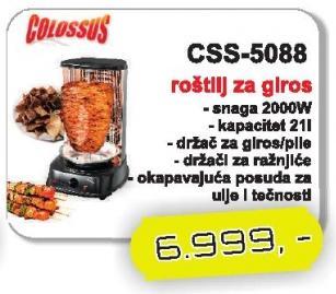 Roštilj za giros Css-5088