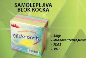Samolepljiva blok kocka