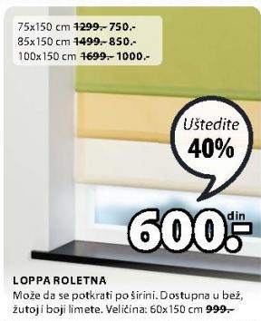 Roletna Loppa 75x150cm