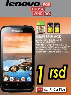Mobilni telefon A3692 Rs Black