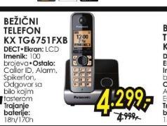 Bežični telefon KX-TG6751FXB