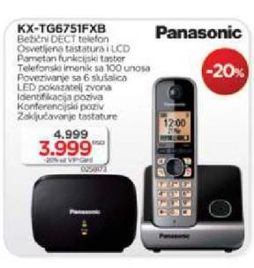 Bežični telefon KX-TG 6751FXB