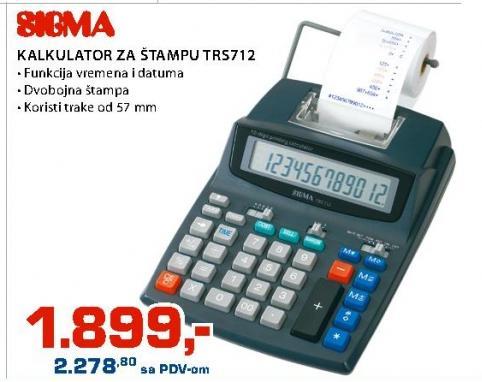 Kalkulator za štampu TRS712