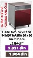 Kuhinjski element IN MDF Maska 60x60 bordo sjaj