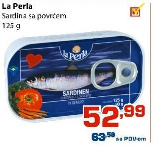 Sardina povrće
