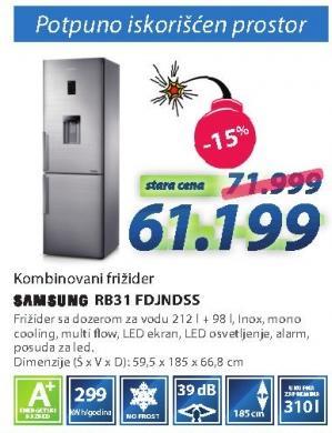 Kombinovani frižider Rb31 Fdjndss