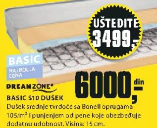 Dušek Basic S10, 90x190/200cm