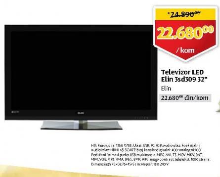 "Televizor LED 32"" 3SD309"
