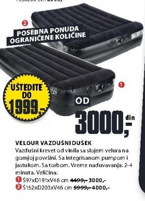 Vazdušni dušek Velour 97x191x46 cm