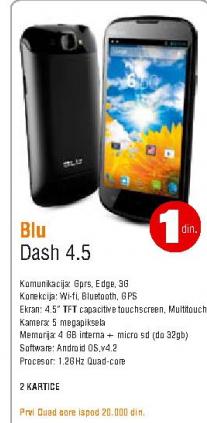 Mobilni telefon  Dash 4,5, BLU