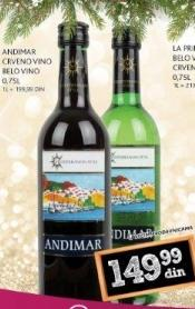 Crno vino Andimar
