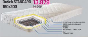 Dušek STANDARD 160x200 cm