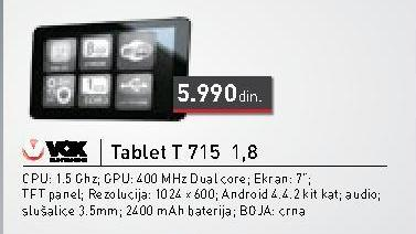 Tablet T715/1.8