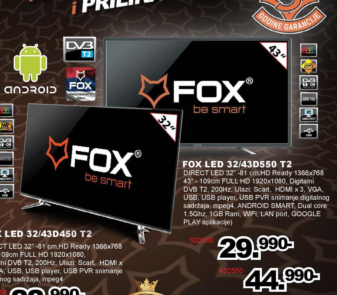 """Televizor LED 32"""" 32D550"""