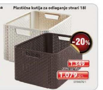 Plastična kutija za odlaganje stvari