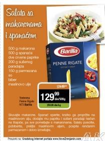 Recept - Salata sa makaronama i spanaćem