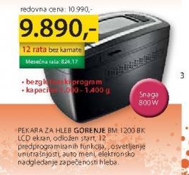 Mini Pekara BM1200BK