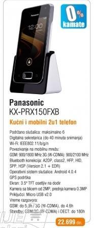 Telefon KX-PRX150FXB