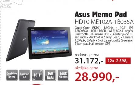 Tablet MeMo Pad HD10 ME102A-1B035A