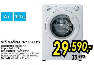 Mašina za pranje veša Gc 1071 d2