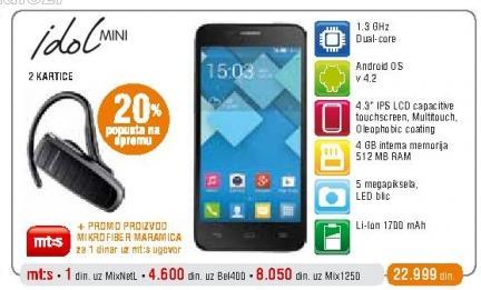 Mobilni telefon Onetouch Idol Mini