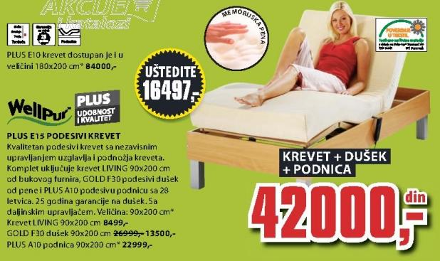 Podnica Plus A10 90x200cm
